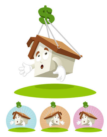 House character is taken away by dollar sign, a concept for house price increasing