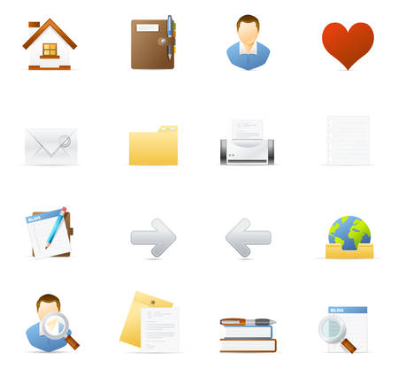 Vecto vector icons. Internet and Blogging 1