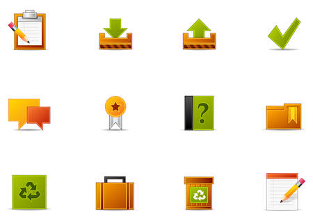 Commonly used Website and Internet blogging icons. Illustration