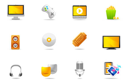 Professional icons for website and presentation. Illustration