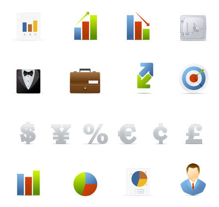 Business and Finance vector icons.