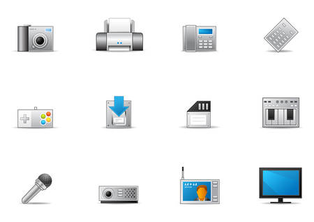 Commonly used Electronic Device icons.