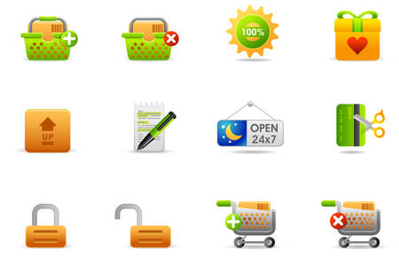 Professional icons for website and presentation. Illusztráció