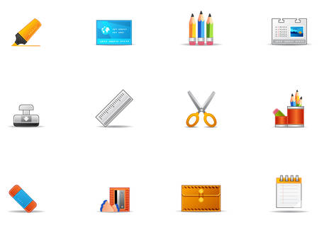 Commonly used stationery icons.