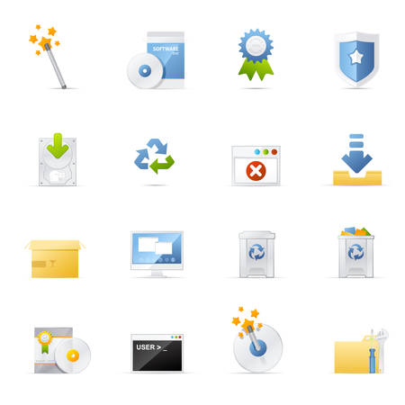 Software and Application vector icons.