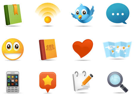 Social media icons illustration.