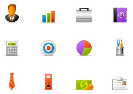 Commonly used Business icons. Banco de Imagens - 96879571