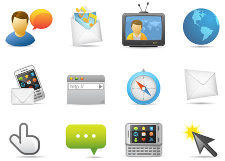 Communication icons illustration. Illustration