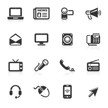 Communication Icons isolated over white background Illustration