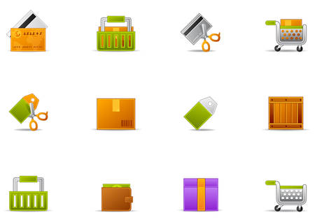 Commonly used E commerce icons. Illustration