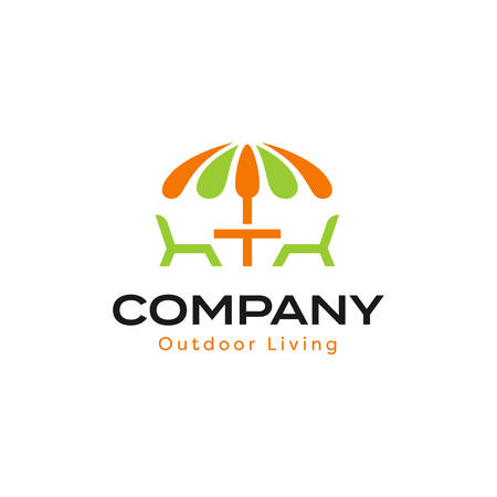 Outdoor Living Logo With Patio Umbrella
