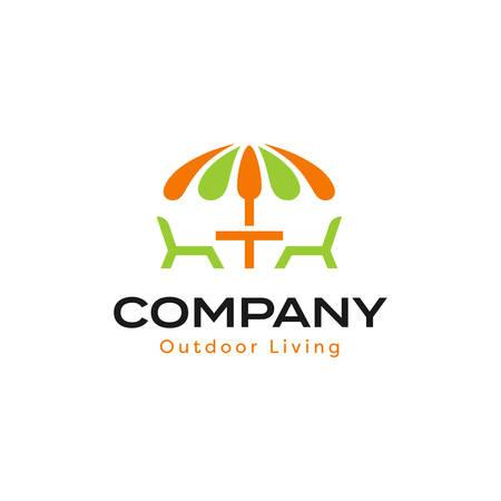 Outdoor Living Logo With Patio Umbrella