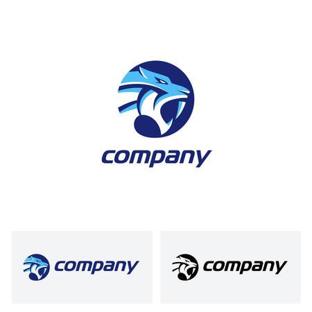 Saber tooth logo for strength , aggressiveness and bravery Logo