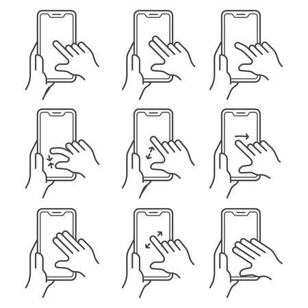 Hand gesture over touchscreen device