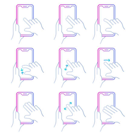 Colored hand gesture over touchscreen device
