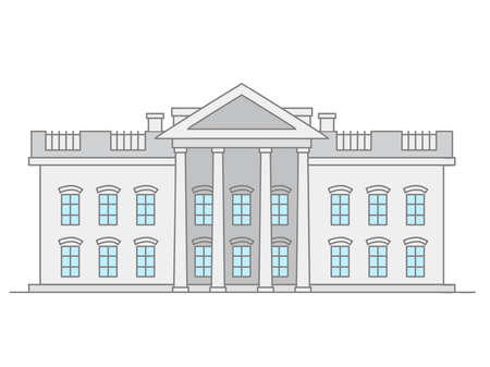 Doodle illustration of US Supreme Court building