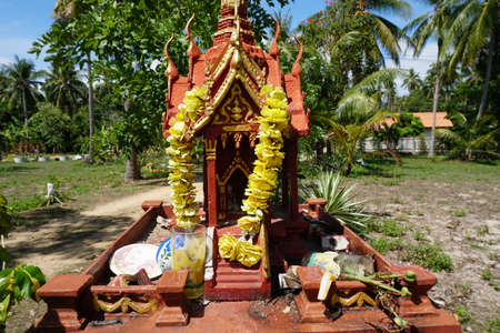 Spirit house in Thailand (san phra phum) Banco de Imagens