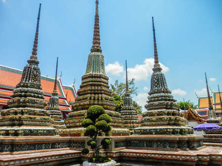 Mosaic pagodas in Bangkok, Thailand Banco de Imagens