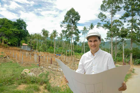 Architector monitor progress at a construction site