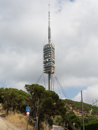 foster: Teletower on Tibidabo s the mountain in Barcelona the architect Norman Foster