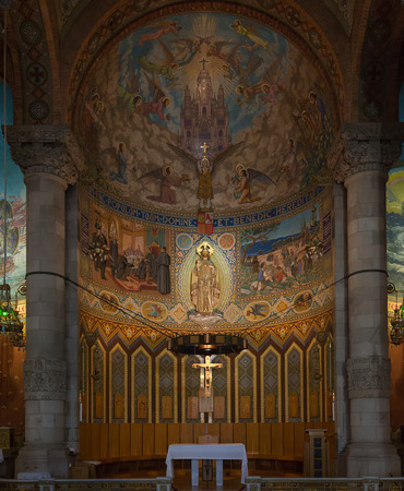 corazon: Interior of the Cathedral of Sacred Heart  Sagrat Corazon  on Tibidabo s the mountain in Barcelona Editorial