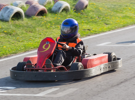 carting: The child moves directly on a go-cart to carting club