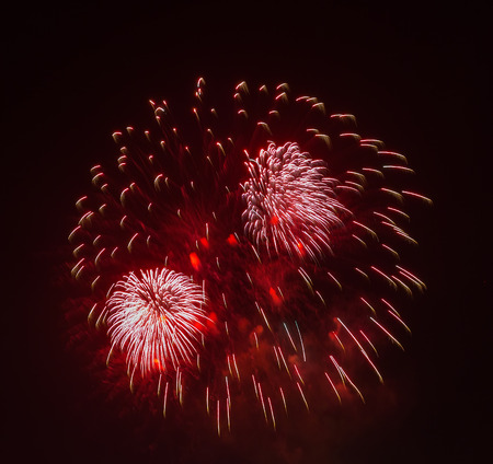 gunfire: The evening fireworks display in honor of Victory Day
