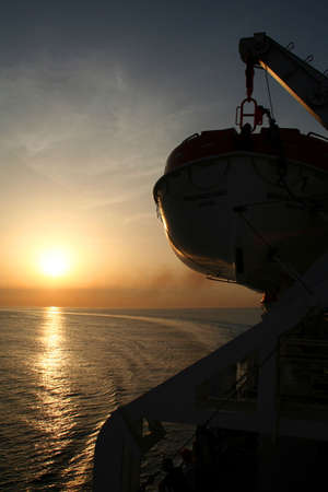 freeing: Sunrise on boat