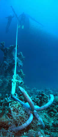Divers and anchor