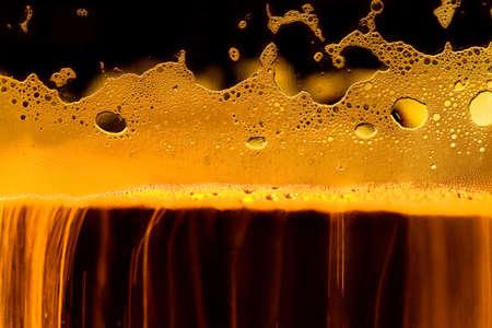Gold beer texture. Macro image