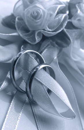 Wedding rings. bw + blue tone