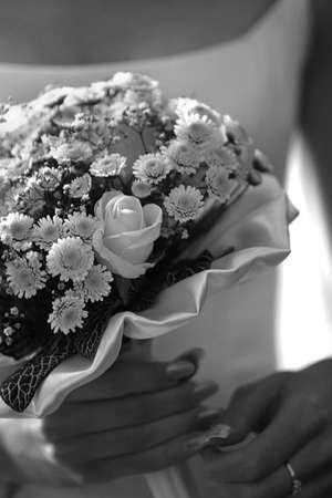 Wedding bouquet. b/w Stock Photo - 462616