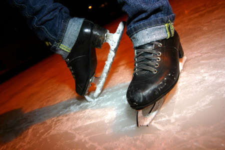 The image of the girl on skates
