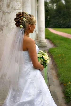 The image of the bride looking afar Stock Photo - 511940