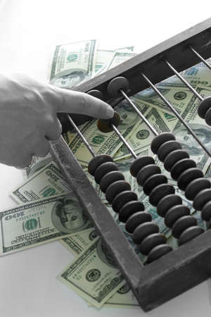 The old tool, a lot of dollars and a man hand Stock Photo - 542567
