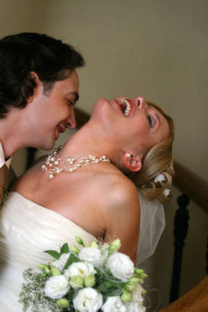 descendants: Beautiful newly-married couple