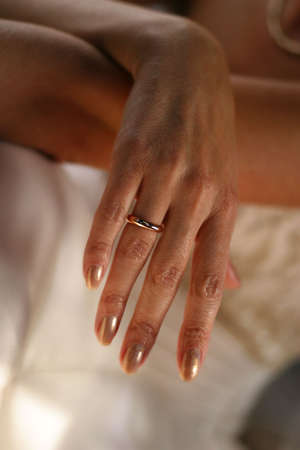 Hand of the bride in a wedding ring Stock Photo - 548831