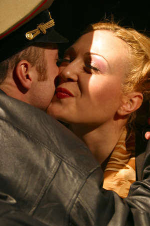 monologue: Two actors kiss in performance