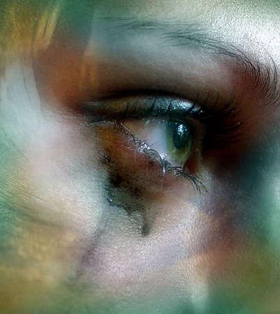 Female eye close-up. Macro-ring. Stock Photo - 649040