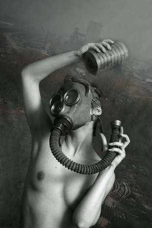 gas mask: Social Issues . Environment . Pollution