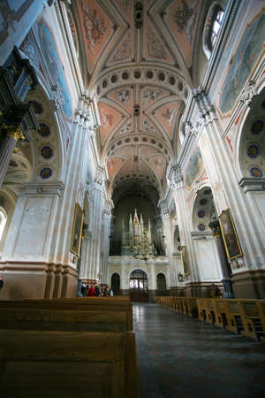 high priest: View inside the Cathedral. Kaunas