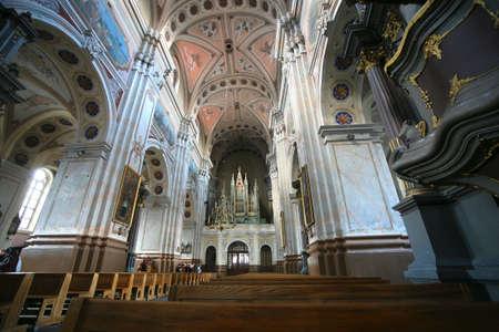 kaunas: View inside the Cathedral. Kaunas