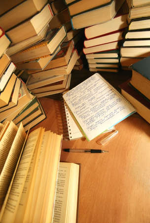 Many old books combined by a heap Stock Photo - 1158304