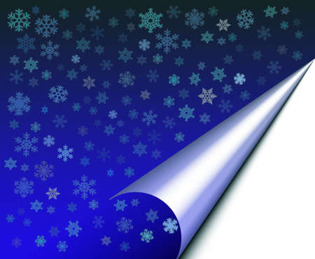 casing: Abstract with white snow flakes against blue background