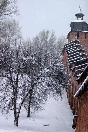 nizhni novgorod: Nizhni Novgorod in the winter. The Kremlin