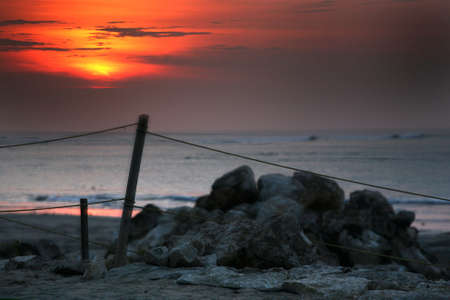 Coast of the Indian ocean  on a sunset. Bali Stock Photo - 2056961