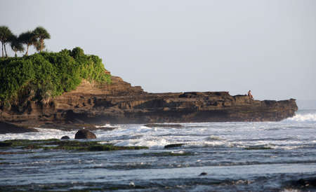 Coastal line Indian ocean in the afternoon photo
