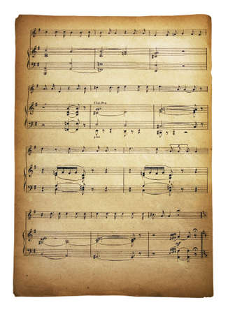 Old vintage musical page with notes Stock Photo - 2223951
