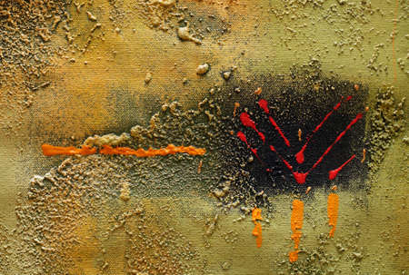 noises: Abstract multi-coloured background drawn by oil paints