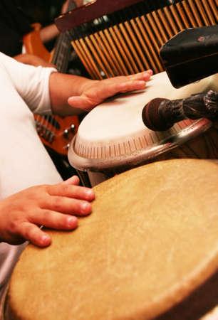 Man playing the djembe (nigerian drum) Stock Photo - 2643676
